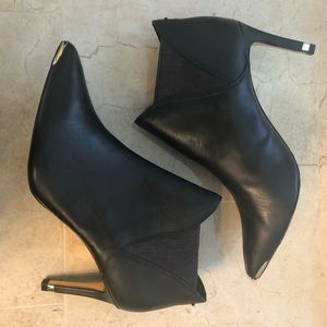 Ted Baker Black Leather Booties